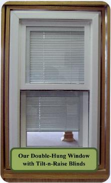 About usWindows with Blinds between the GlassRoyalTech Vinyl